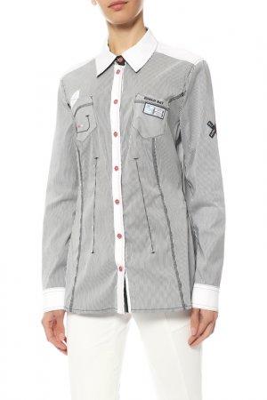 Рубашка Sportalm. Цвет: серый
