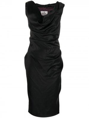 Платье миди с воротником хомут Vivienne Westwood. Цвет: черный