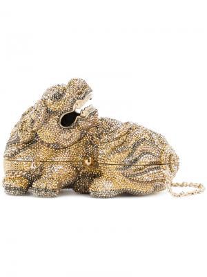 Сумка Majesty Foo Dog Judith Leiber Couture. Цвет: металлический