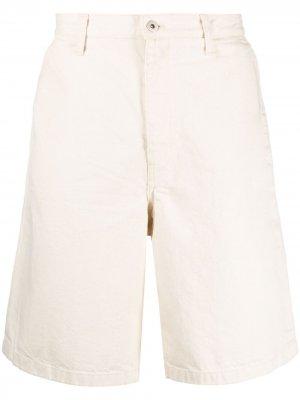 Джинсовые шорты Jil Sander. Цвет: нейтральные цвета