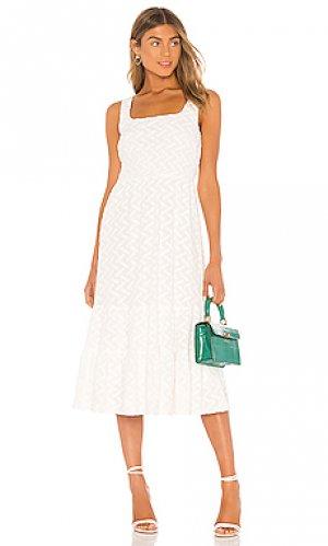 Платье миди becky Line & Dot. Цвет: белый