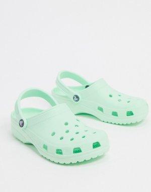 Классические кроксы мятного цвета -Зеленый Crocs