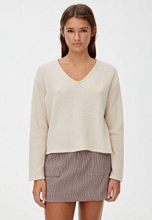 Пуловер Pull&Bear. Цвет: бежевый