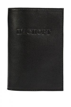 Обложка для паспорта OLCI. Цвет: черный