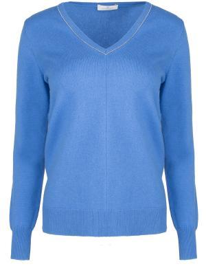 Шерстяной пуловер Panicale. Цвет: голубой