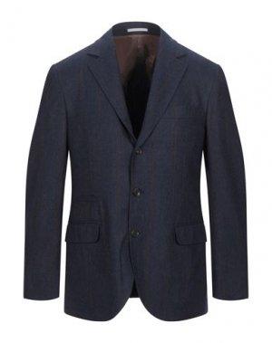 Пиджак BRUNELLO CUCINELLI. Цвет: темно-синий