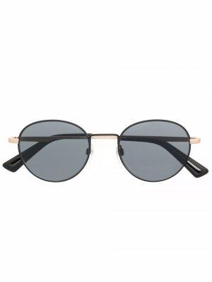 Солнцезащитные очки DL0290 в круглой оправе Diesel. Цвет: черный
