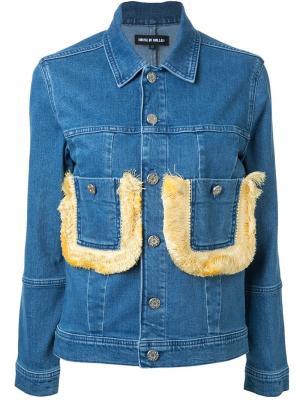 Джинсовая куртка с бахромой House Of Holland. Цвет: синий