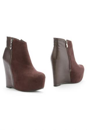 Ботинки 1TO3. Цвет: коричневый