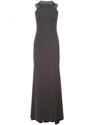 Удлиненное платье без рукавов Badgley Mischka