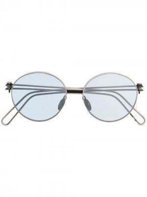 Солнцезащитные очки в круглой оправе с эффектом потертости WERKSTATT:MÜNCHEN. Цвет: серебристый