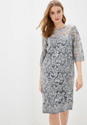 Платье Argent. Цвет: серебряный