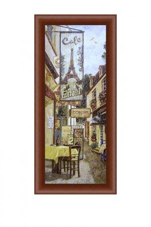 Картина-репродукция Дворик 2 Декарт. Цвет: коричневый