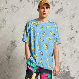 Мужская футболка с принтом банданы SHEIN. Цвет: синий