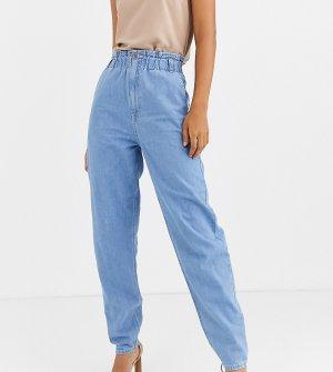 Светлые джинсы с эластичными вставками на поясе ASOS DESIGN Tall-Синий Tall
