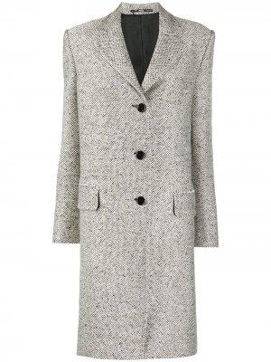 Пальто 1990-х годов средней длины на пуговицах Gianfranco Ferré Pre-Owned. Цвет: белый