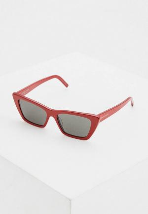 Очки солнцезащитные Saint Laurent SL 276 MICA 003. Цвет: красный