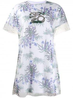 Платье-футболка Sea Lily Kenzo. Цвет: белый