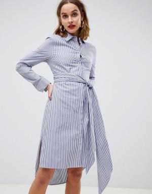 Платье-рубашка в полоску 2NDDAY 2nd Day. Цвет: мульти