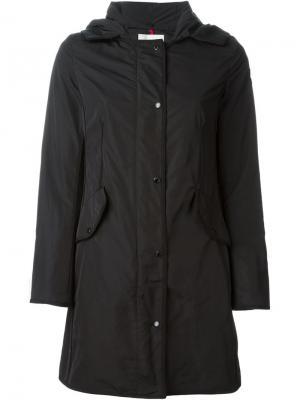 Пальто-ветровка с капюшоном Moncler. Цвет: чёрный