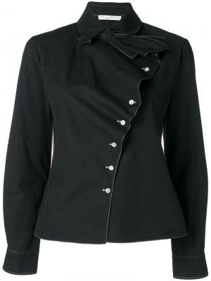 Рубашка со смещенной застежкой на пуговицах Christian Dior Pre-Owned. Цвет: черный