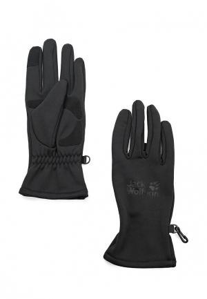 Перчатки Jack Wolfskin DYNAMIC TOUCH GLOVE. Цвет: черный