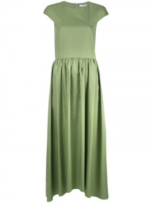 Платье макси со складками Tibi. Цвет: зеленый