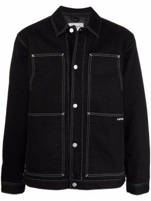 Джинсовая куртка с контрастной строчкой Carhartt WIP. Цвет: черный