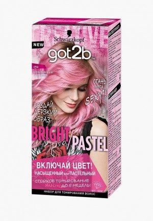Краска для волос Got2B BRIGHT/PASTEL 093, Шокирующий розовый, 80 мл. Цвет: розовый