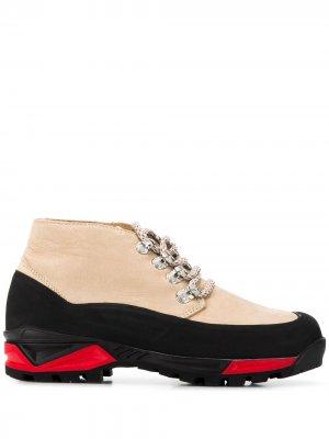 Ботинки дезерты на шнуровке Diemme. Цвет: бежевый