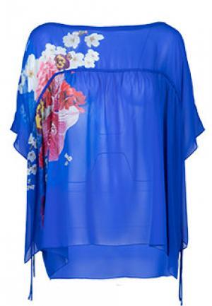 Блуза ROBERTO CAVALLI. Цвет: синий