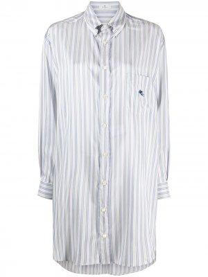Полосатая рубашка с длинными рукавами Etro. Цвет: синий