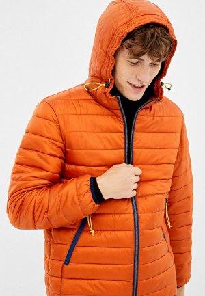 Куртка утепленная Springfield. Цвет: оранжевый