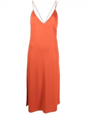 Атласная комбинация Giselle Aeron. Цвет: оранжевый