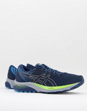 Синие с черным кроссовки Running Gel Cumulus 22-Черный цвет Asics