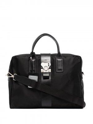 Портфель с контрастной окантовкой FPM Milano. Цвет: черный