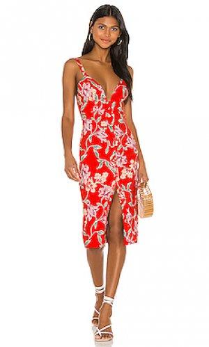 Платье миди lantana Privacy Please. Цвет: красный