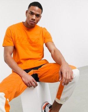 Оранжевая футболка с принтом на груди -Оранжевый цвет Hi-Tec