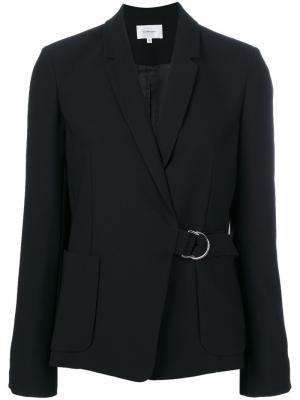 Структурированный пиджак с поясом Carven. Цвет: черный
