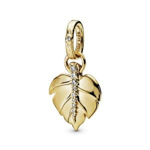 Кулон Золотые листья Pandora