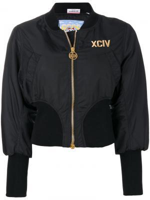 Куртка бомбер Gcds. Цвет: черный
