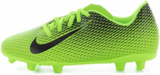 Бутсы для мальчиков Bravata Ii Fg, размер 32.5 Nike. Цвет: зеленый