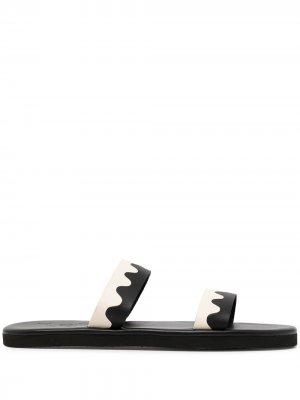 Сандалии с открытым носком Ancient Greek Sandals. Цвет: черный