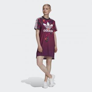Платье-футболка HER Studio London Originals adidas. Цвет: разноцветный