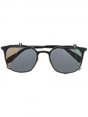 Солнцезащитные очки-авиаторы MASAHIROMARUYAMA. Цвет: черный