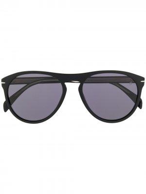 Солнцезащитные очки в круглой оправе DAVID BECKHAM EYEWEAR. Цвет: черный