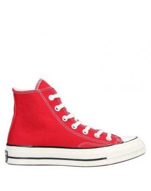 Кеды и кроссовки CONVERSE. Цвет: красный
