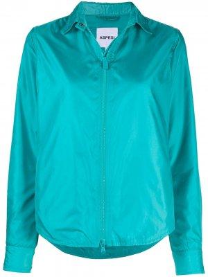 Куртка-рубашка на молнии Aspesi. Цвет: синий