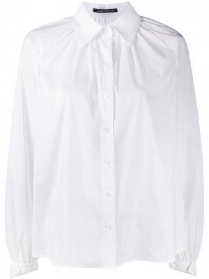 Вельветовые брюки прямого кроя Luisa Cerano. Цвет: белый