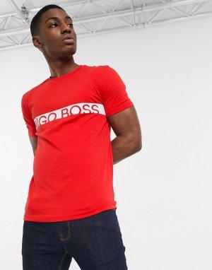 Футболка с логотипом Business-Красный BOSS